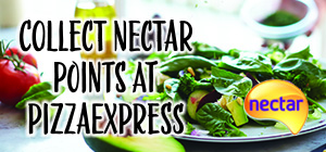 Collect bonus points with Nectar at PizzaExpress!